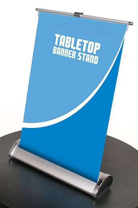 table top banner display nimbus 8 table top retractable banner stand