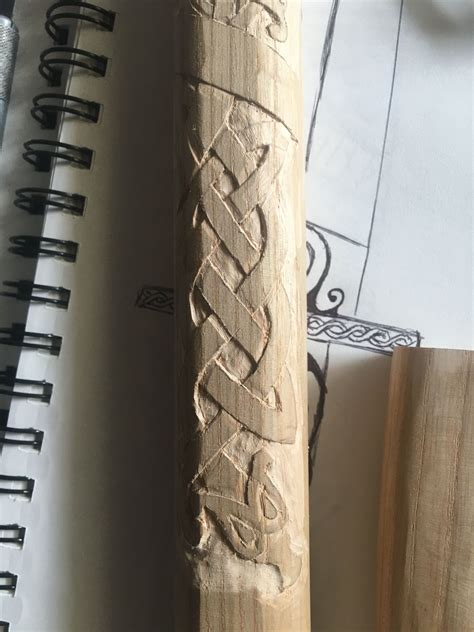 carving  axe handle  ash wood hand carved walking