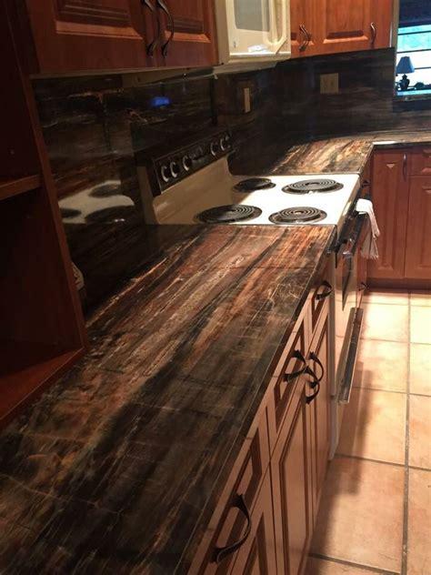 petrified wood  formica laminate bathroom