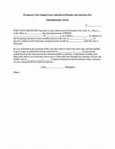 best photos of basic promissory note form simple With simple promissory note document