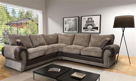 tango fabric corner sofa  beige brown