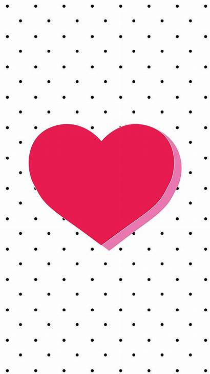 Heart Iphone Wallpapers Phone Pink Valentine Backgrounds