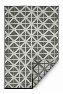 Garten im quadrat outdoor teppich manchester grau weiss for Balkon teppich mit gestreifte tapeten grau weiss
