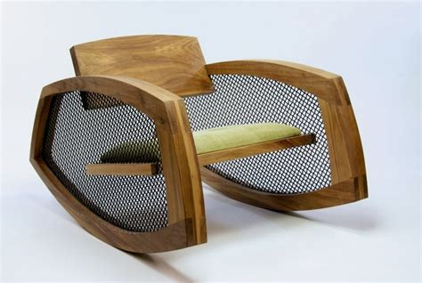low wooden rocking chair to fit any modern interior by
