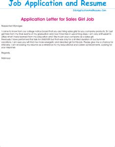 Application Letter For Sle by Application As A Sales Jaar Hunters
