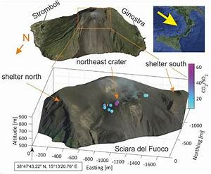 Overview On The Sampling Site At Stromboli Volcano With