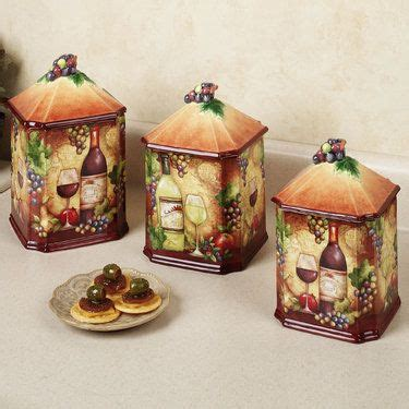 grape kitchen canisters wine map grapes kitchen canister set for the home