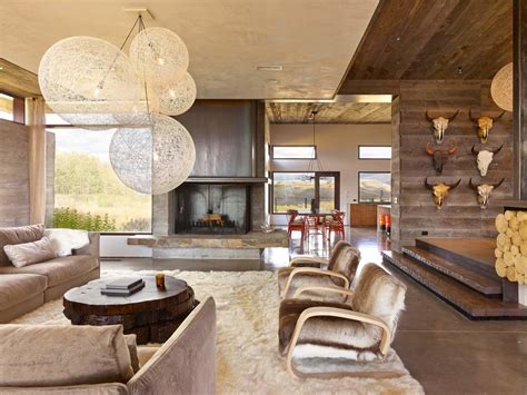 innovative  skull vogue  metro rustic living room
