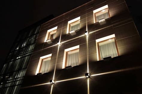 lighting system in building architectural lighting of the office building facade