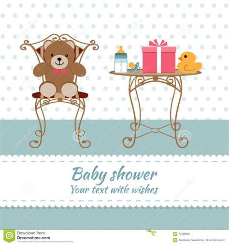baby shower boy stock vector image  happy border