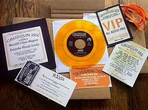 make playable 7quot vinyl records for your concert themed With 7 vinyl wedding invitations