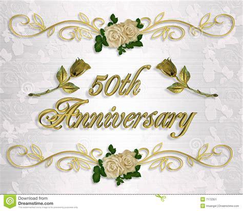 fiftieth wedding anniversary 50th anniversary invitation stock image image 7172351