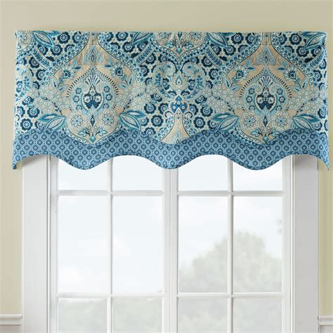 waverly valances waverly moonlit shadows wave window curtain valance reviews wayfair