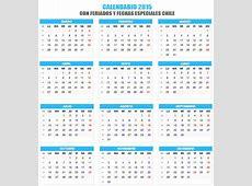Calendario 2015 con Feriados Chile