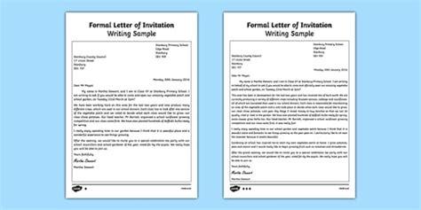 formal letter  invitation writing sample