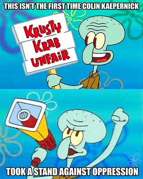 Kaepernick Squidward Meme - 41 football memes that are way more fun than watching the games