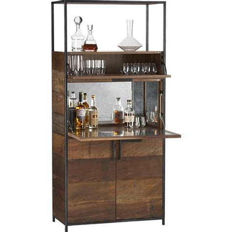 reclaimed wood bar cabinet clive antique mirror detailed wood bar cabinet