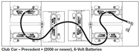 club car  battery wiring diagram circuit