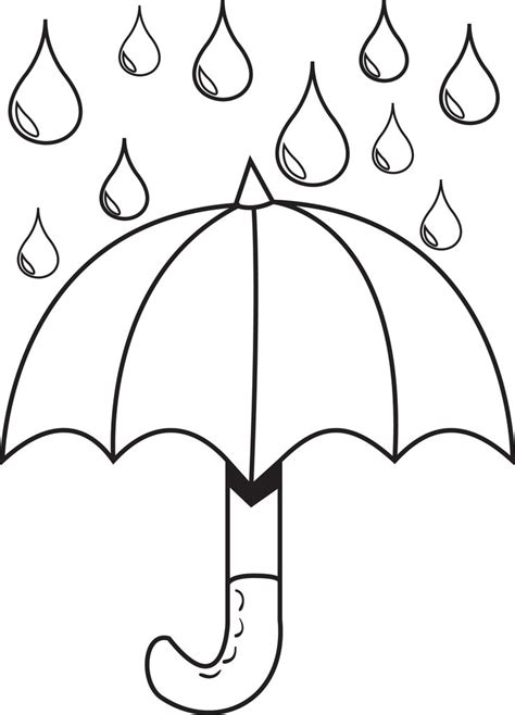 free printable umbrella with raindrops coloring 736 | 4195 umbrella with raindrops coloring page 1024x1024