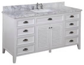 savannah 60 in single sink bath vanity carrara white