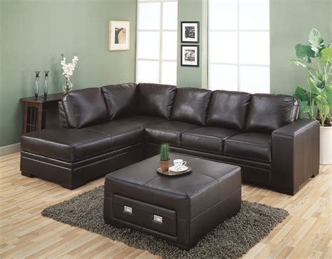 brown sectional with ottoman l shaped brown leather sectional sofa with right chaise