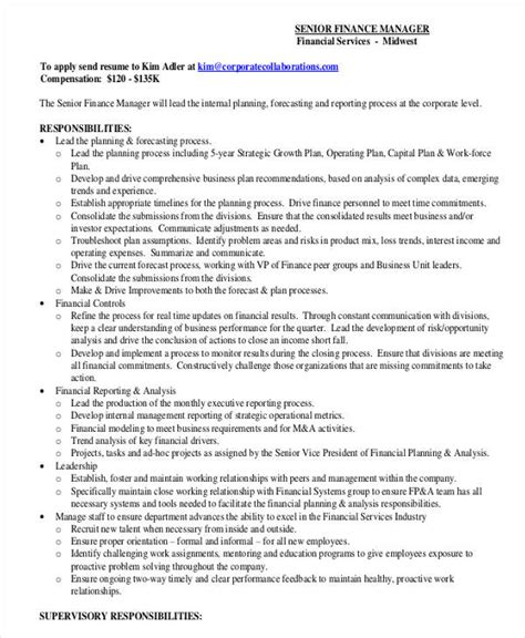 Corporate Finance Manager Resume by 8 Finance Resume Free Premium Templates