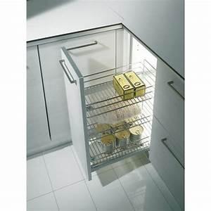 Tiroir De Cuisine : tiroir de cuisine extractible 3 paniers 2122 25 kg inoxa bricozor ~ Teatrodelosmanantiales.com Idées de Décoration