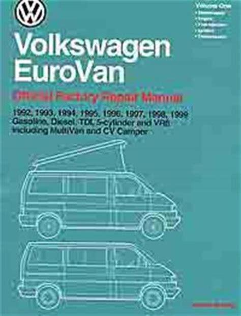free car repair manuals 1995 volkswagen eurovan free book repair manuals volkswagen vw eurovan transporter 1992 1999 owners service repair manual sagin workshop