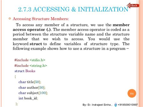 control statements array pointer structures