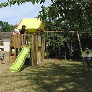 Jeux Exterieur Bois Enfant : 17 meilleures id es propos de portique balancoire sur ~ Premium-room.com Idées de Décoration