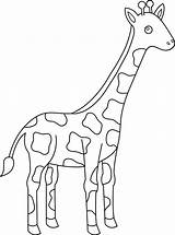 Giraffe Coloring Pages Animal Cartoon Drawing Simple Giraffes Animals Sheets Clipart Getdrawings Easy Printable Pngwave Getcolorings Coloringfolder sketch template