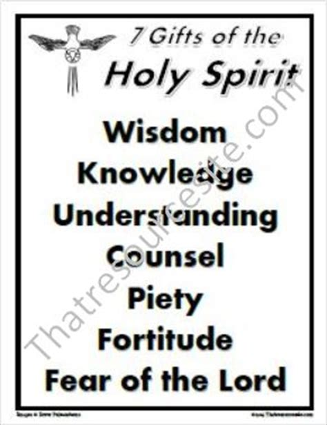 gifts   holy spirit poster  resource site