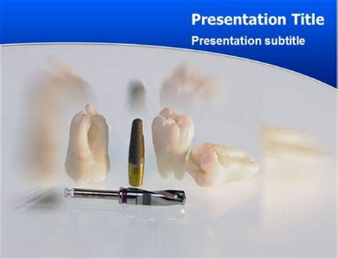 implant teeth powerpoint templates and backgrounds