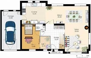 plan de maison With plan de maison a etage