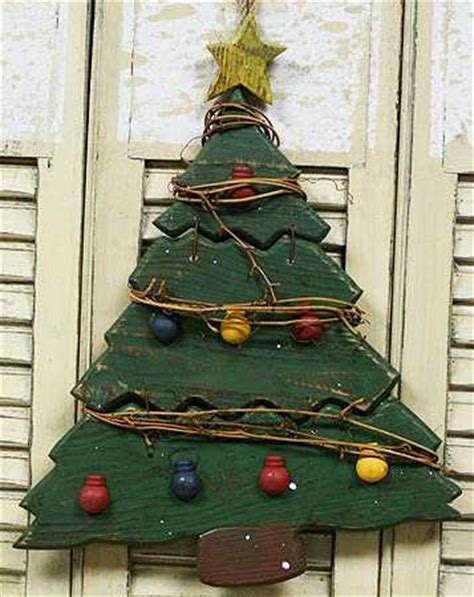 primitive rustic wooden christmas tree sales