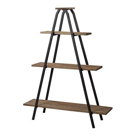 "Wooden ""a"" Line Shelves W Metal Frame"