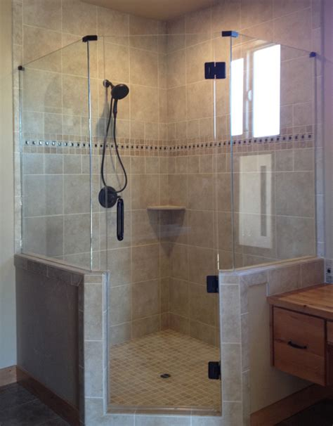 neo angle shower doors frameless neo angle shower door glass accents