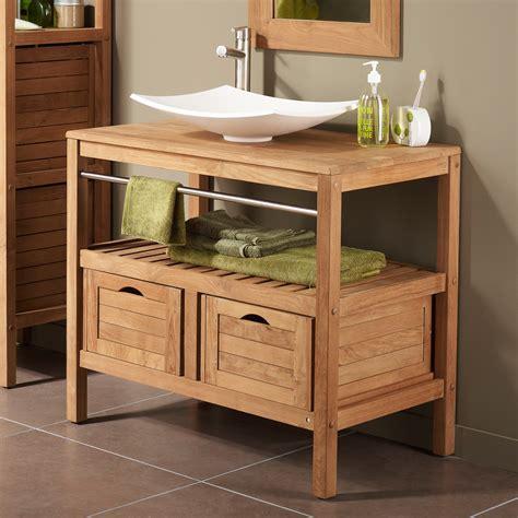 meuble de cuisine pour salle de bain meuble sous vasque avec plan 2 tiroirs sdb chalet meuble sous vasque vasque