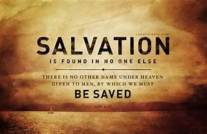My Salvation Experience