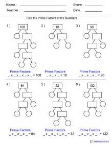 factoring numbers worksheets factoring gcf free printable worksheets trials ireland