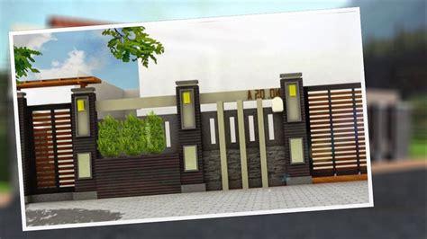 arsitektur desain pagar rumah minimalis type  modern