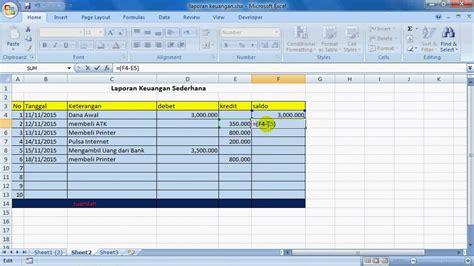 membuat laporan keuangan sederhana youtube