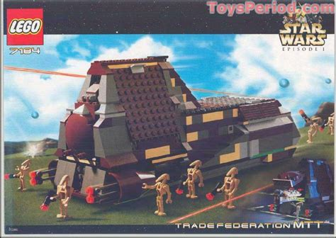 lego 7184 trade federation mtt parts inventory and