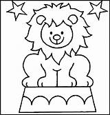Circus Coloring Pages Children Simple sketch template