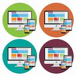 Responsive Web Icons Vector Devices Clipart Banner