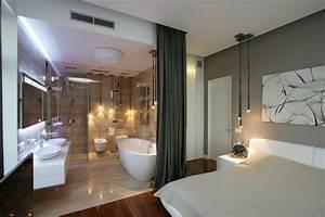 25 sensuous open bathroom concept for master bedrooms With master bedroom with bathroom design