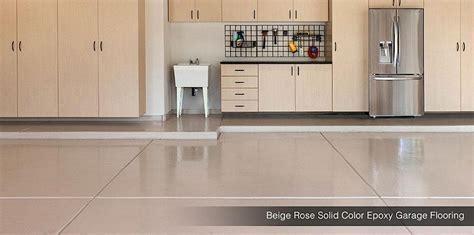 Solid Epoxy Garage Floor   Beige Rose   Oxford Grey   Raffia