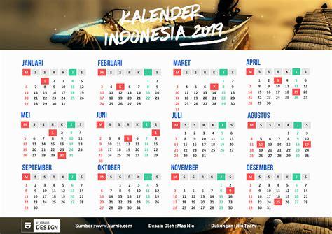 Kalender Indonesia 2019 Vector Editable