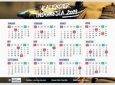Kalender Indonesia 2019 Vector Editable