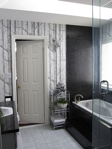 grey black white bathroom bathroom black white gray by www housewears ca flickr photo sharing
